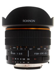ROKINON MF 8mm F/3.5 Aspherical IF Fisheye APS-C для Nikon