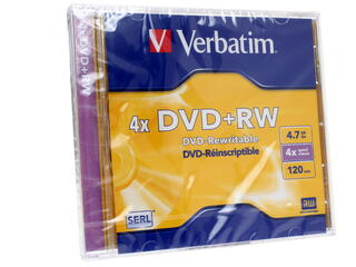 Диск  DVD+RW 4.7Gb Jewel Case (Verbatim)  4x