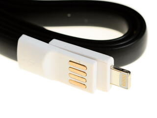Кабель Solomon USB - Lightning 8-pin черный