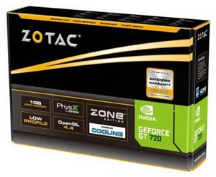 Видеокарта Zotac GeForce GT 720 [ZT-71202-20L]