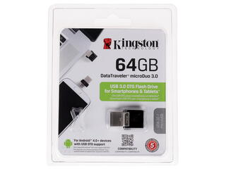 Память OTG USB Flash KINGSTON MicroDuo  64 Гб
