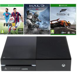 Игровая приставка Microsoft Xbox One + Forza motorsport 5, FIFA 15, Halo: Spartan Assault