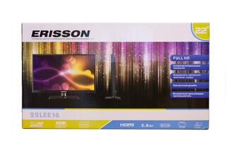 "24"" (60 см)  LED-телевизор Erisson 24LEE16 черный"