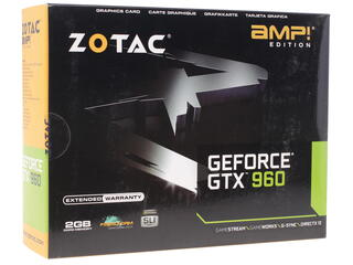 Видеокарта Zotac GeForce GTX 960 AMP! Edition [ZT-90303-10M]