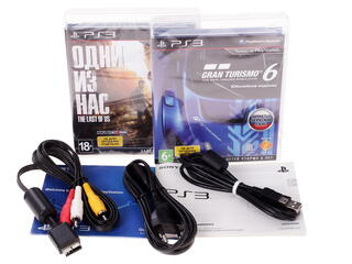Игровая приставка PlayStation 3 Super Slim + Gran Turismo 6, Одни из нас