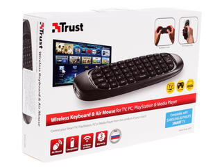 Клавиатура для ТВ Trust Wireless Keyboard & Air Mouse RU for TV