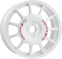 Автомобильный диск Литой OZ Racing Leggenda 7x17 4/100 ET 42 DIA 68 White + Red Lettering 35ANY