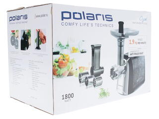 Мясорубка Polaris PMG 1810A Crystal серебристый