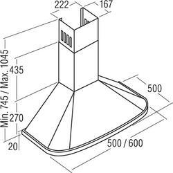 Технические характеристики Вытяжка каминная Cata NEBLIA 600 WH белый ... 3b83b1e748d