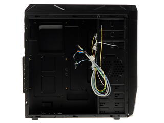 Корпус Miditower ATX AirTone SA-K4 black with led fan, без БП