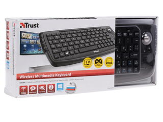 Клавиатура для ТВ Trust Compact Wireless Entertainment Keyboard