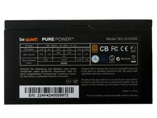 Блок питания Be Quiet PURE POWER L8 600W [BN224]