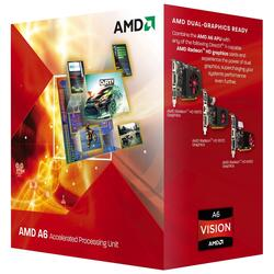 Процессор AMD A4-3420 2.8GHz  1Mb 2xDDR3-1600 Graf-HD6410D/600Mhz  FM1 BOX w/cooler