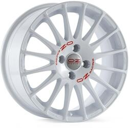 Автомобильный диск Литой OZ Racing Superturismo WRC 6,5x15 4/100 ET 37 DIA 68 White + Red Lettering