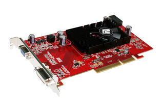 Видеокарта AGP PowerColor AMD Radeon HD3450 512MB 64bit DDR2 DVI VGA