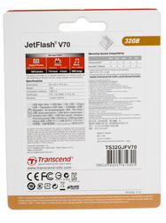Память USB Flash Transcend JetFlash v70 32 Гб