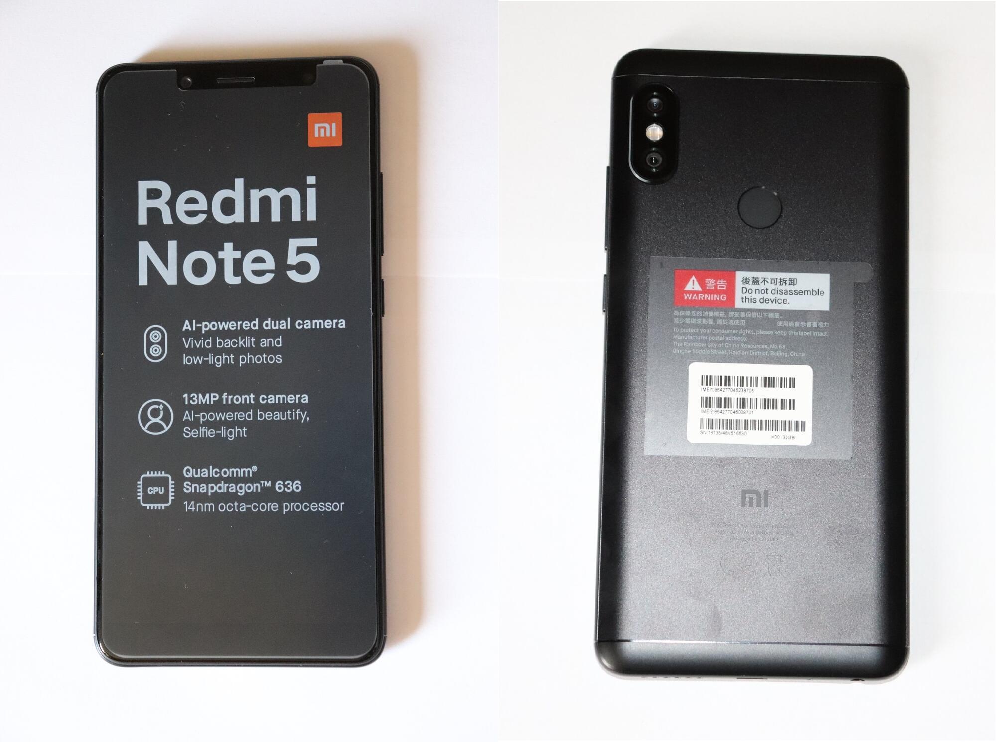 Smartfony i aksessuary - Opyt vladeniya Xiaomi Redmi Note 5