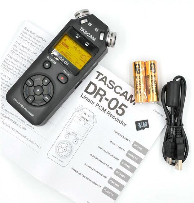 Video i Audio - Portativnyy rekorder Tascam DR-05