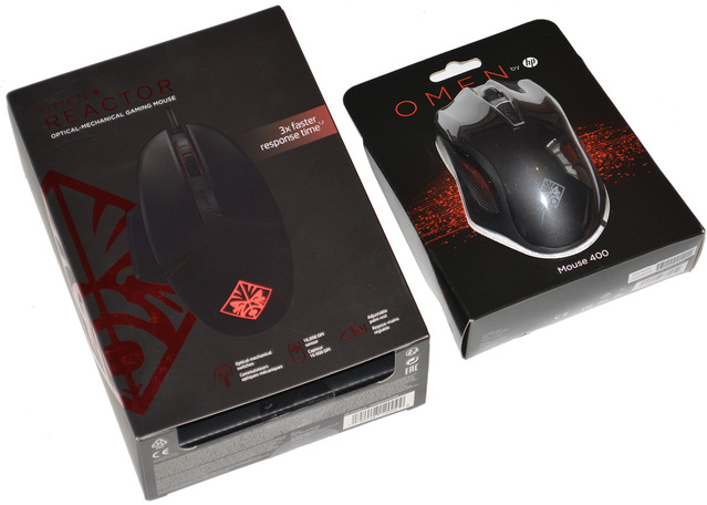 Обзор игровых мышей HP Omen Mouse 400 и HP Omen Reactor