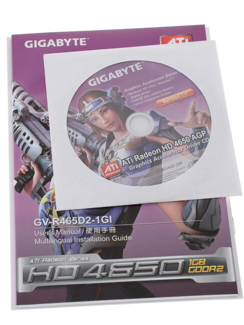 Gigabyte Ati Radeon Hd 4650 Agp 1Gb Graphics Card