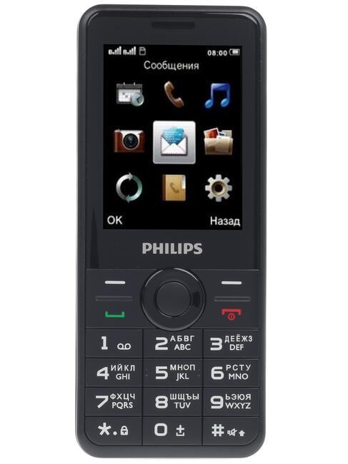 95479bdc72da Купить Сотовый телефон Philips E168 черный в интернет магазине DNS ...