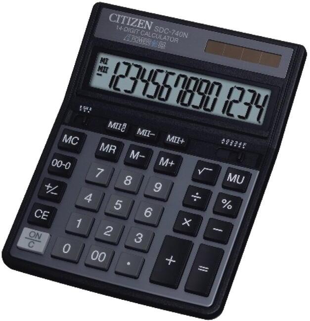 Калькулятор CITIZEN D-312 Black двойное питание