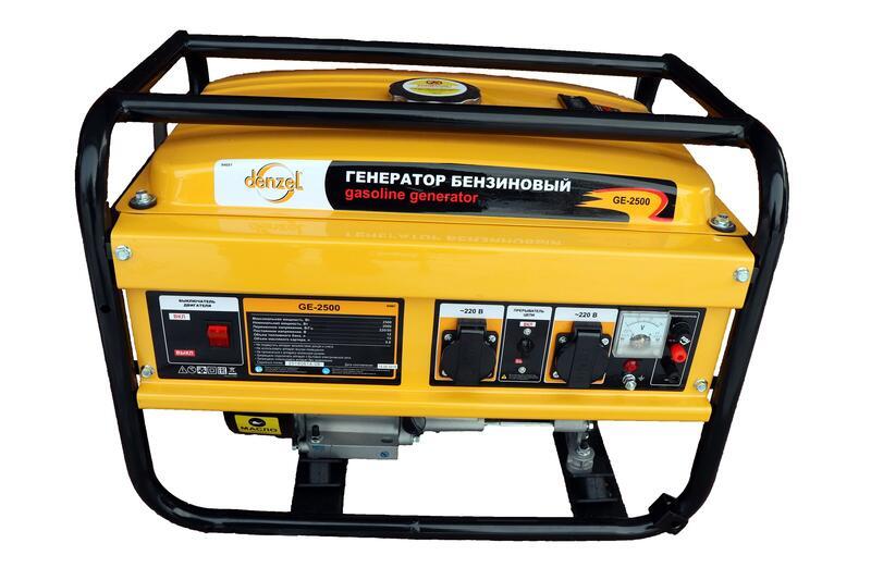 Instrumenty - Obzor benzinovogo generatora DENZEL GE-2500