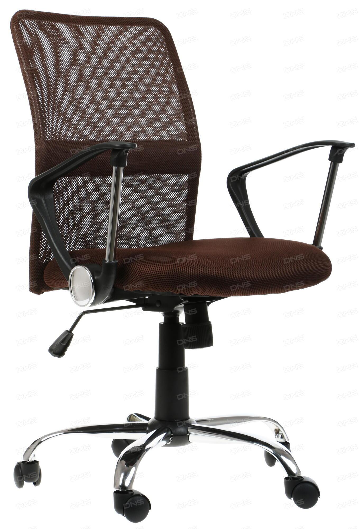 Кресло офисное COLLEGE H-298FA-1 Черный ткань сетчатый акрил 120 кг крестовина хром подлокотники черный пластик. (ШxГxВ) см 51x54x90-100