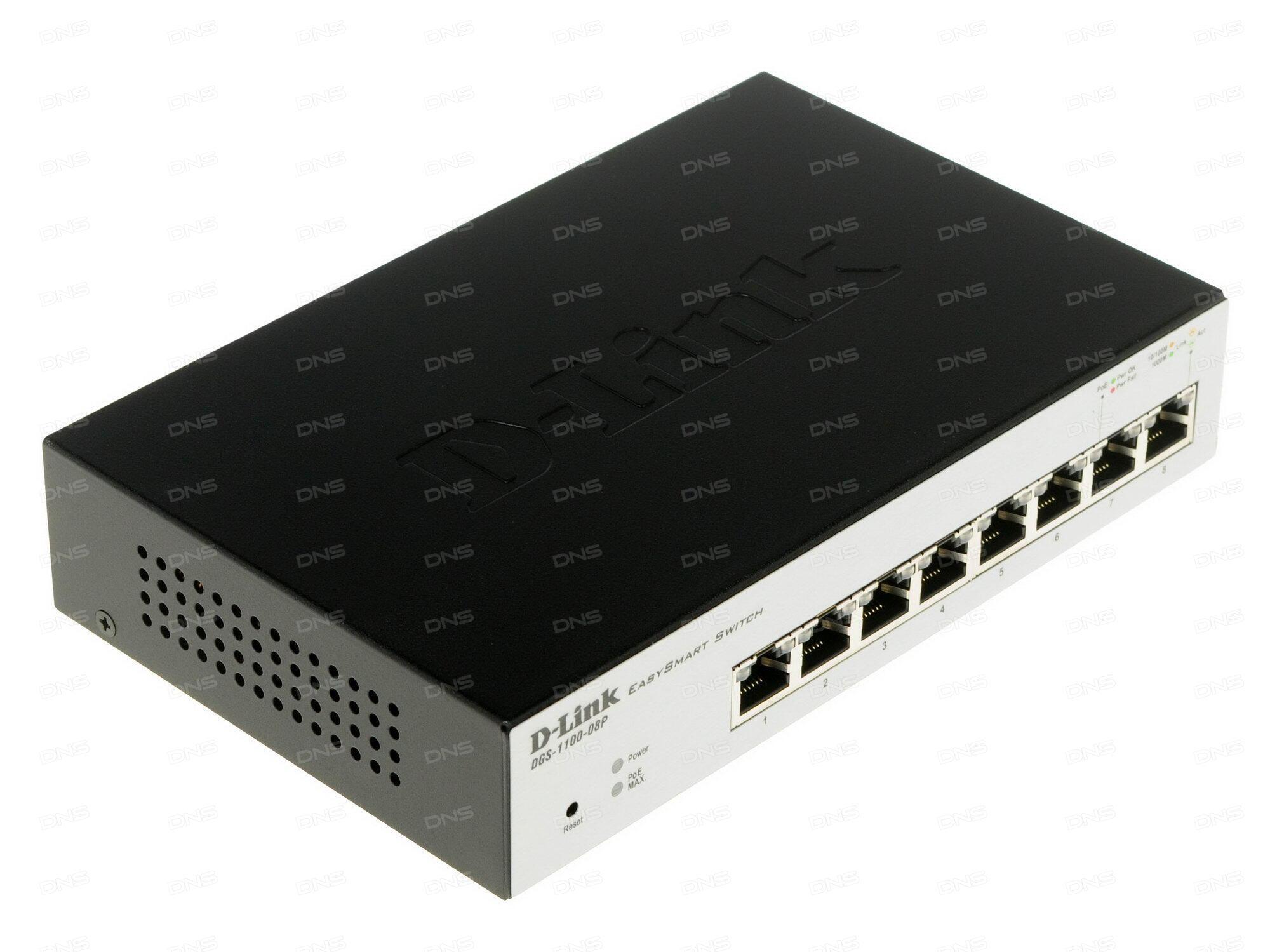 Коммутатор D-Link DGS-1100-26MPP/B1A Настраиваемый коммутатор EasySmart с 24 портами 10/100/1000Base-T и 2 комбо-портами 1000Base-T/SFP (порты 1 – 24