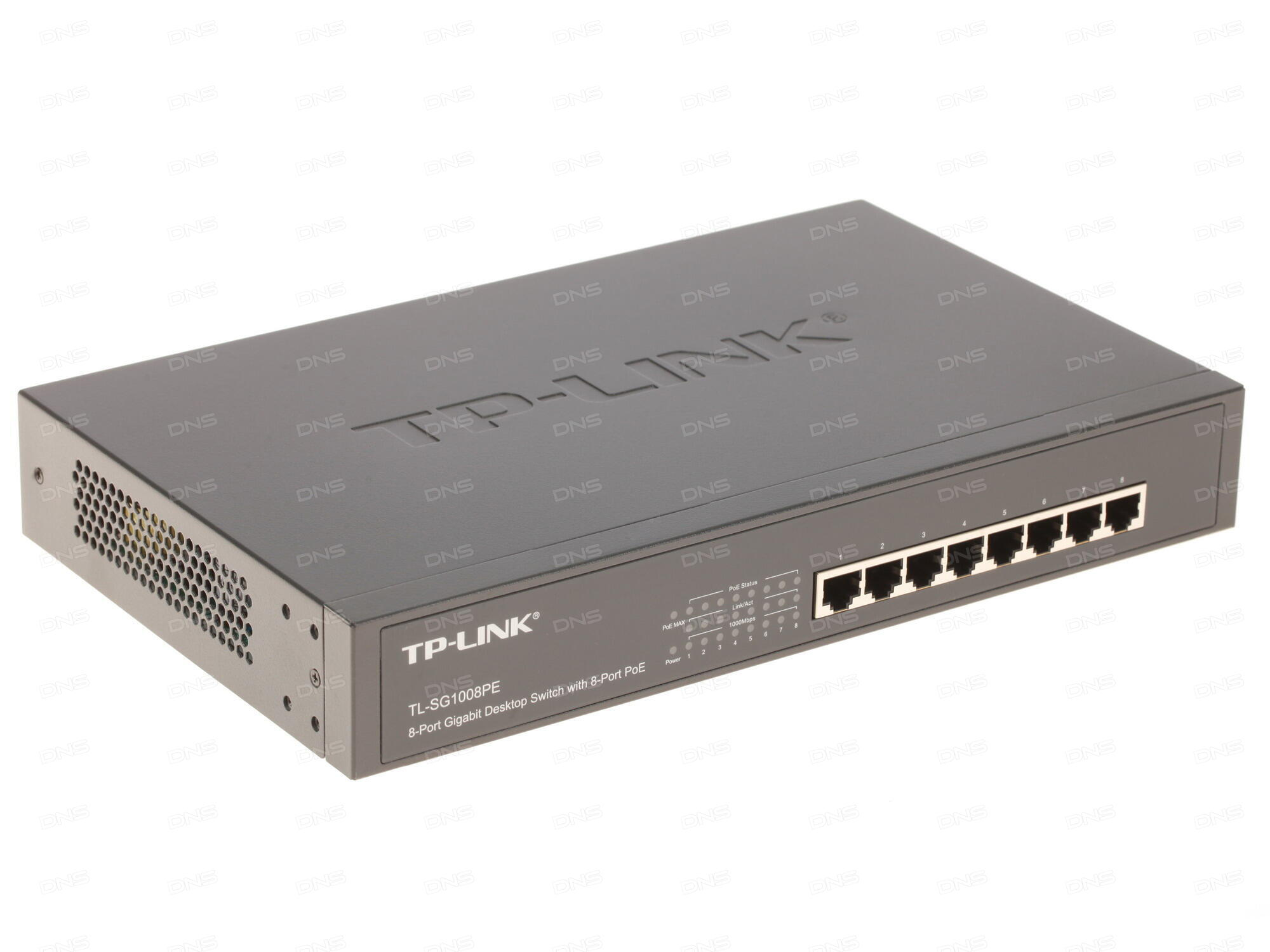 Коммутатор TP-LINK TL-SG1008D 8-port Gigabit Switch plastic case