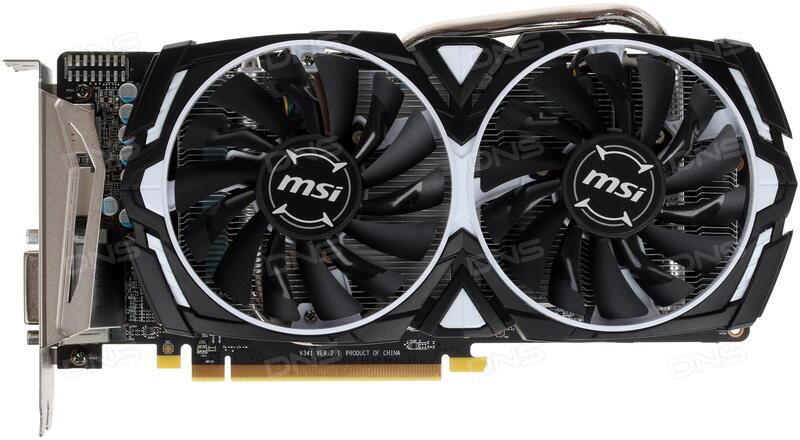 Купить Видеокарта MSI AMD Radeon RX 570 ARMOR OC [RX 570 ARMOR 4G OC] в  интернет магазине DNS