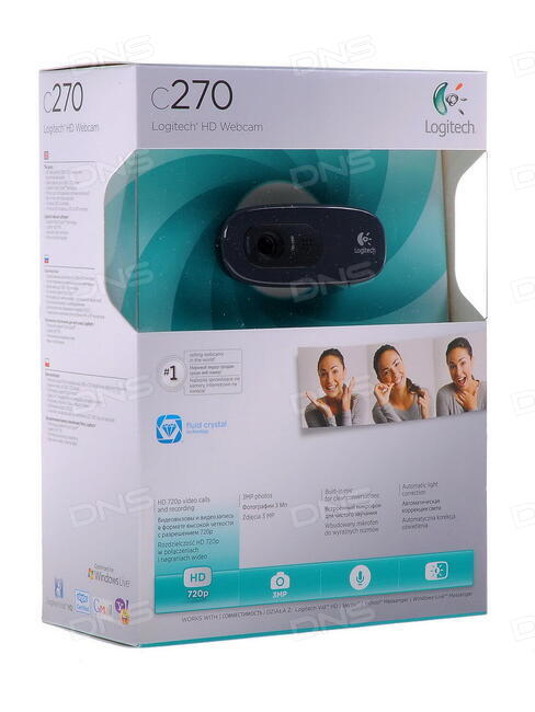 Rozetka. Ua | веб-камера logitech c270 hd webcam oem refurbished.