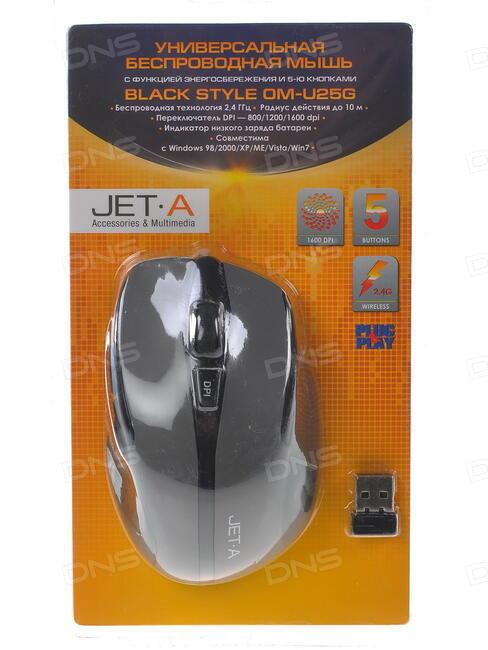 Мышь Jet.A Black Style OM-U18G Black-Blue