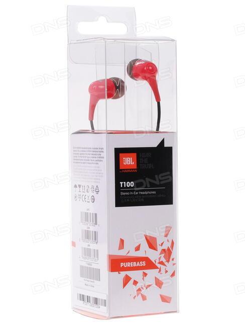 купить наушники Jbl T100 красный в интернет магазине Dns