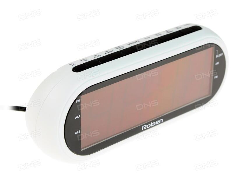 da54e5928c2d Купить Часы радиобудильник Rolsen CR-130W в интернет магазине DNS ...