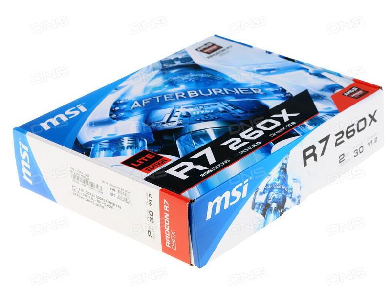 Технические характеристики Видеокарта MSI AMD Radeon R7 260X
