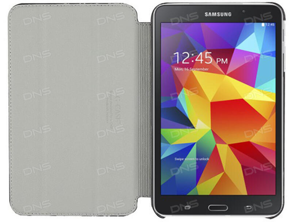 купить чехол книжка для планшета Samsung Galaxy Tab 4 черный в