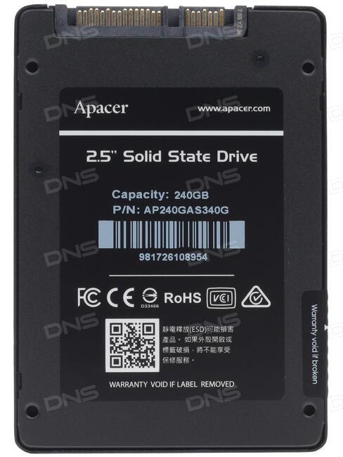 Жесткий диск 240Gb - Apacer AS340 AP240GAS340G-1