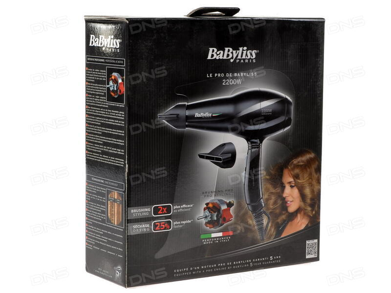 Купить Фен BaByliss 6614E черный в интернет магазине DNS ... e58e672331908