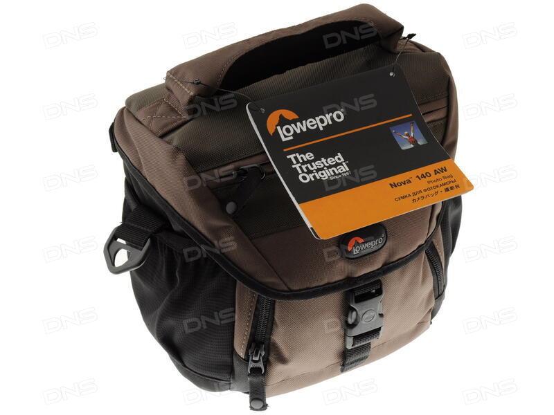 f3a8e6b70516 Купить Сумка LowePro Nova 140 AW черный, коричневый в интернет ...