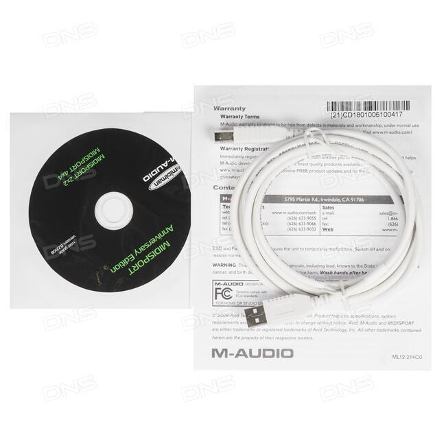 Купить MIDI интерфейс M-Audio MidiSport 4x4 в интернет on