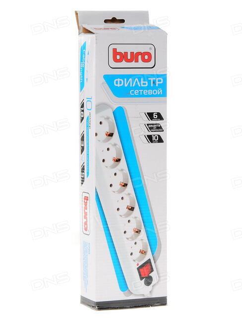 Сетевой фильтр Buro 500SH-3-W 3м (5 розеток) белый