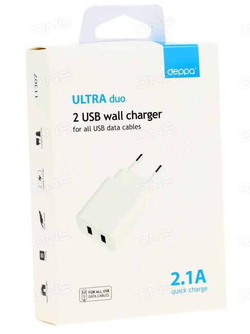 купить сетевое зарядное устройство Deppa Ultra 11307 в интернет магазине Dns