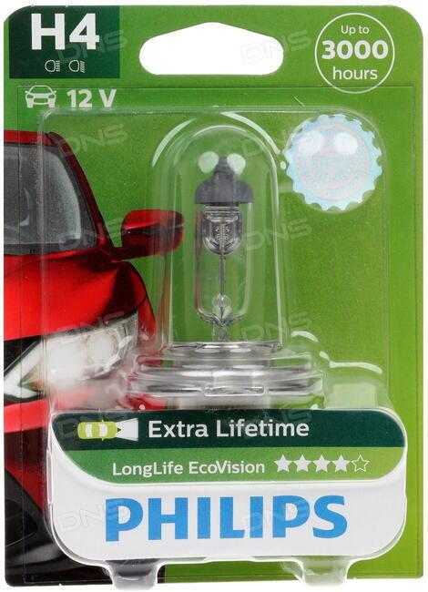 Лампа головного света Philips 12342llecoc1 Longlife Ecovision - фото 6