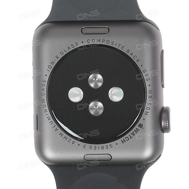 Купить Смарт-часы Apple Watch Series 3 GPS 42mm ремешок - черный в ... c51b9fb5ebe0c
