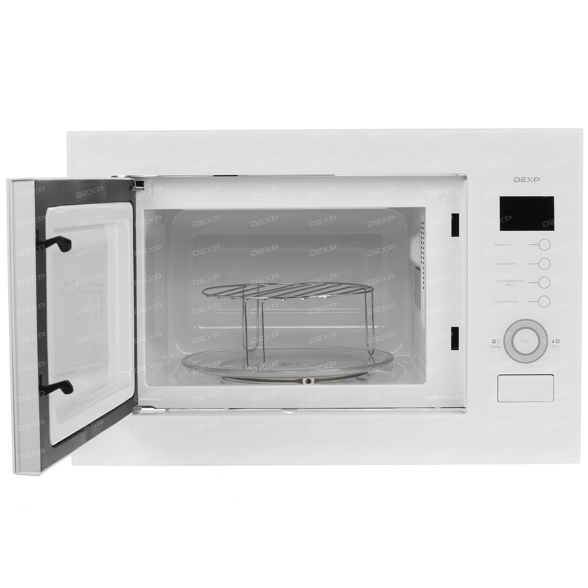 встраиваемая микроволновая печь белого цвета